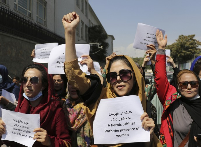 Afghan women protest in Kabul