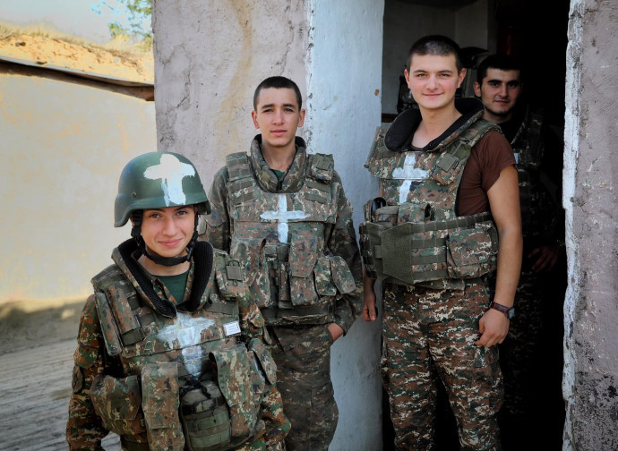 Soldiers from Armenia