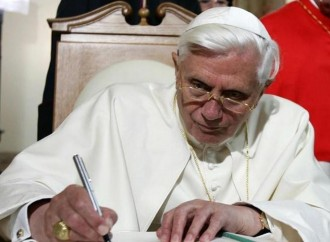"""Civil unions """"contrary to the common good"""". Signed Benedict"""