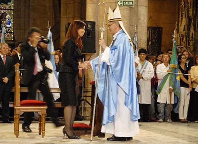 Cristina Kirchner and pope Bergoglio