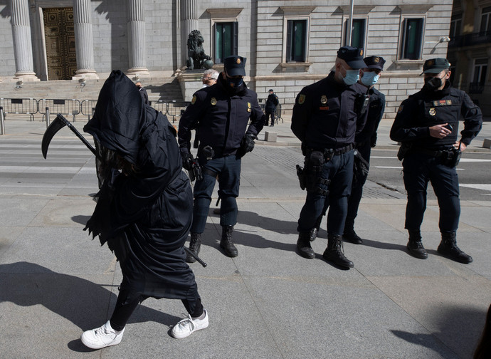 Protest in Spain against the law on Euthanasia