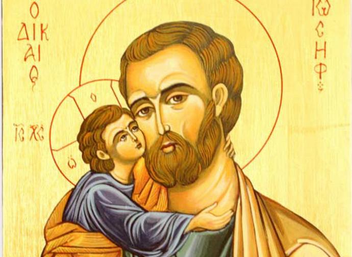 Icon of St. Joseph with Child Jesus