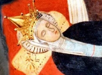 The Virgin sleeps, before the glorious Assumption