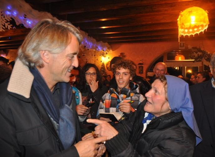Roberto Mancini with sister Rosalina Ravasio