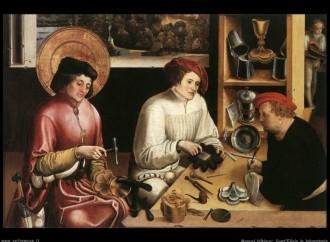 Saint Eligius, glorifying God with his goldsmithing art