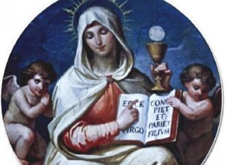 The Eucharist: true Body born of the Virgin Mary