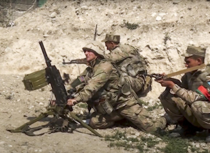 Soldiers in Nagorno Karabakh
