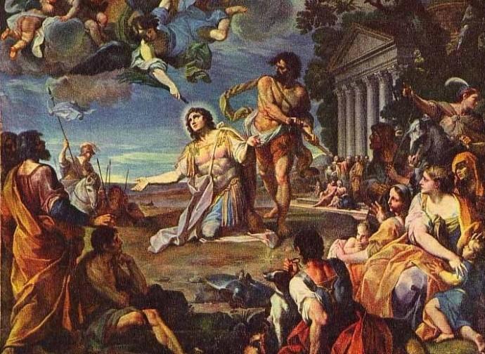 Martyrdom of saint Tropez