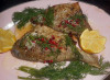 Sea bream with dill and pink peppercorns