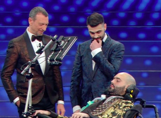 "The ""sacrifice"" on stage at the Sanremo song Festival"