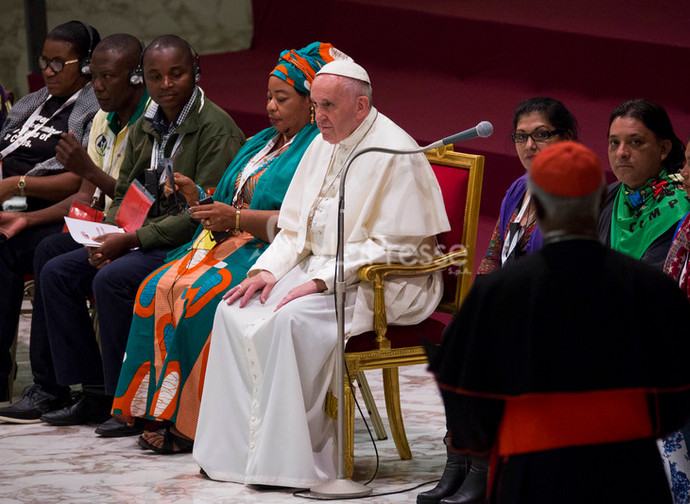 Pope Francis at the III World Meeting of Popular Movements