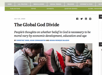 Global survey finds the world still believes in God