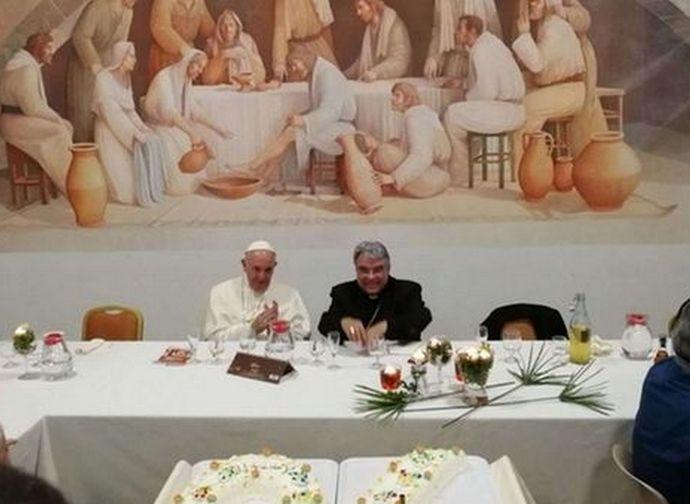 Bishop Semeraro with Pope Francis
