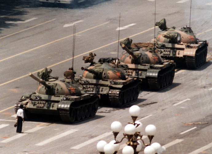 The photograph become a symbol of Tiananmen Square massacre