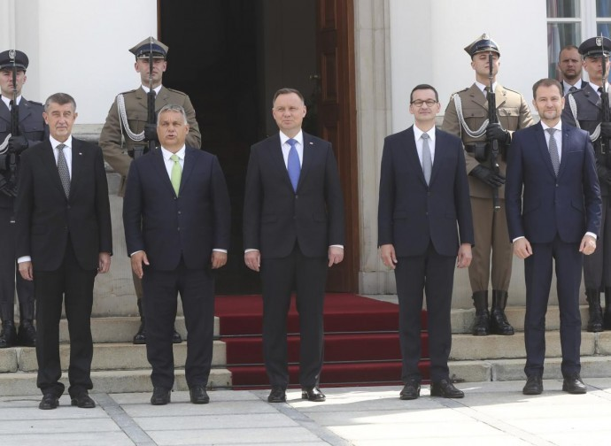 Leaders of Visegrad Group