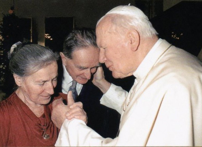 Wanda Poltawska with John Paul II