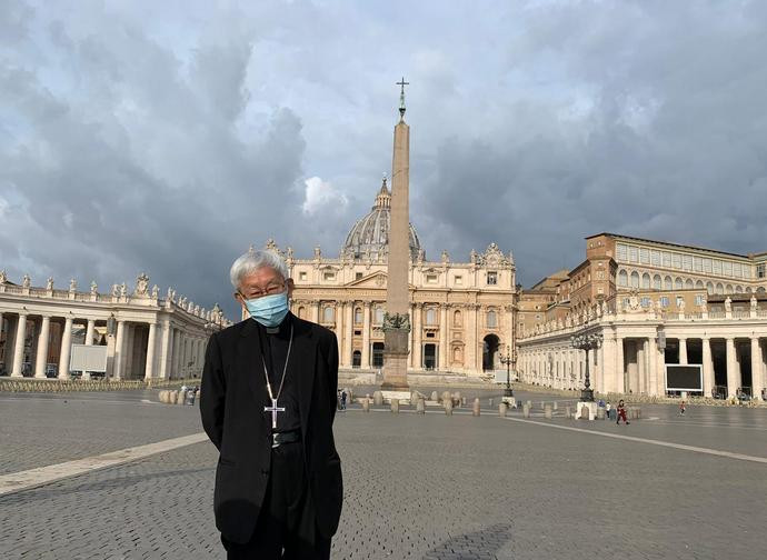 Cardinal Zen in Rome